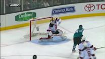 Martin Brodeur robs Couture from point-blank