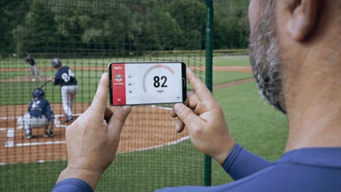 Radar turns your smartphone into a baseball speed detector