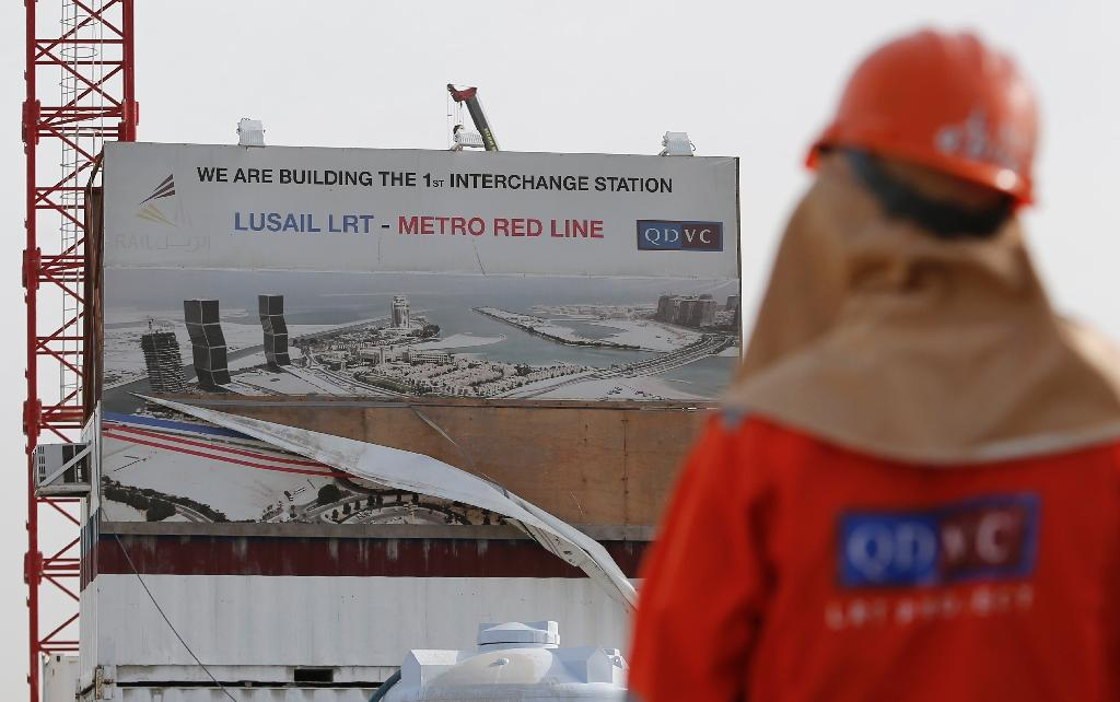 Qatar's metro, once completed, will run hundreds of kilometres across ultra-modern Doha, along the coast and into its expanding suburbs (AFP Photo/Karim Jaafar)