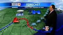 Chilly with light rain in the Piedmont