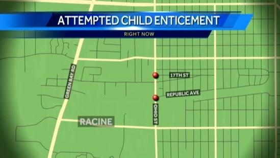 Racine police warn of child enticement attempts