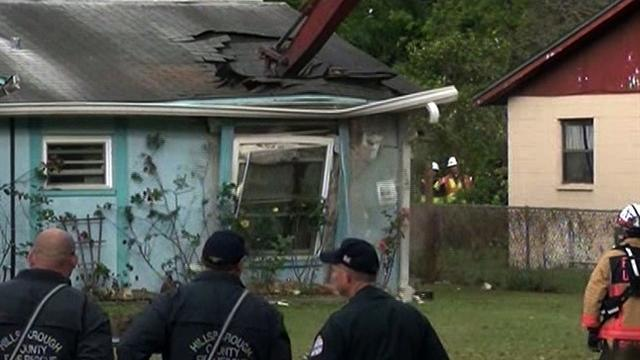 Sinkhole home demolished in Florida