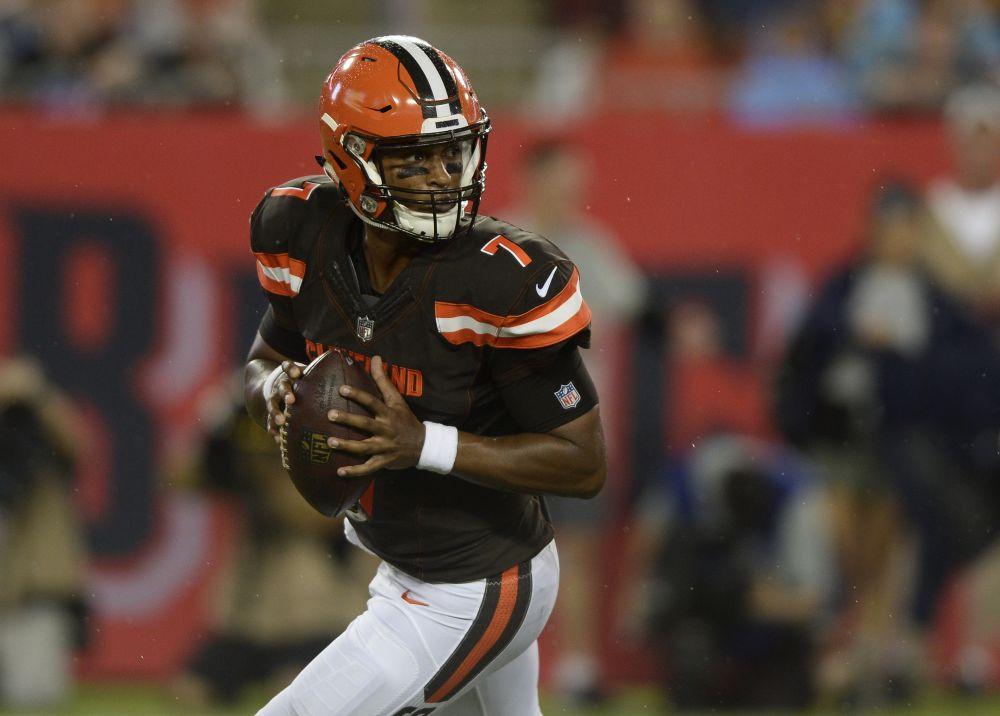 DeShone Kizer was named the Browns' starting quarterback for the regular-season opener. (AP)