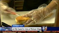 LA City Council To Vote On Minimum Wage Increase