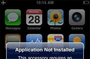 iPhone accessories can download iPhone apps to your iPhone memory