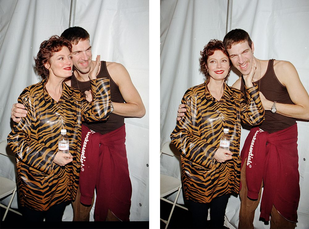 Kevyn Aucoin and Susan Sarandon, 1995. (Photo: Getty Images)