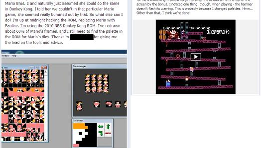 Dad re-tiles Donkey Kong for his daughter, has Pauline save Mario