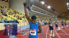 Noah Lyles raises black-gloved fist, wins 200m in Monaco