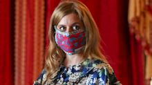 Princess Beatrice wears floral dress and face mask to see her wedding dress on display at Windsor Castle