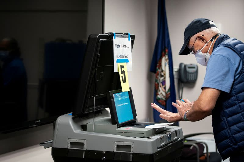 FILE PHOTO: People vote at an early voting site in Fairfax, Virginia