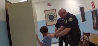 Video shows police trying to handcuff 8-year-old boy
