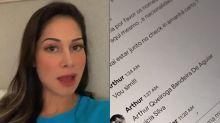 Para provar traição, Mayra Cardi expõe conversas de Arthur Aguiar sobre Aricia Silva