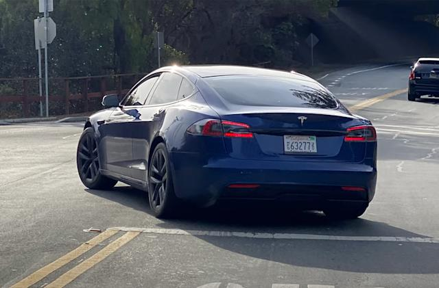 Tesla's refreshed Model S design may have been spotted on the road