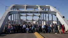 Black marchers, white re-enactors find common foe in Selma