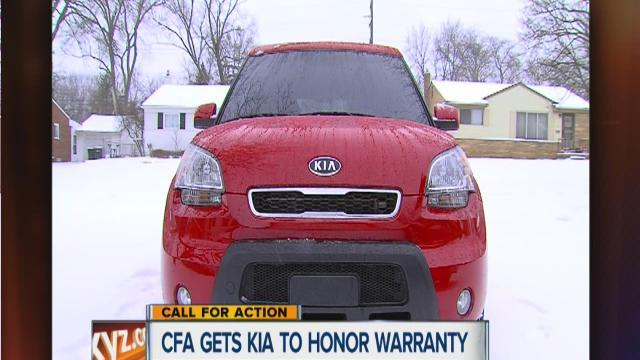 Call for Action gets KIA to honor warranty