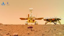 China's Mars rover took a selfie