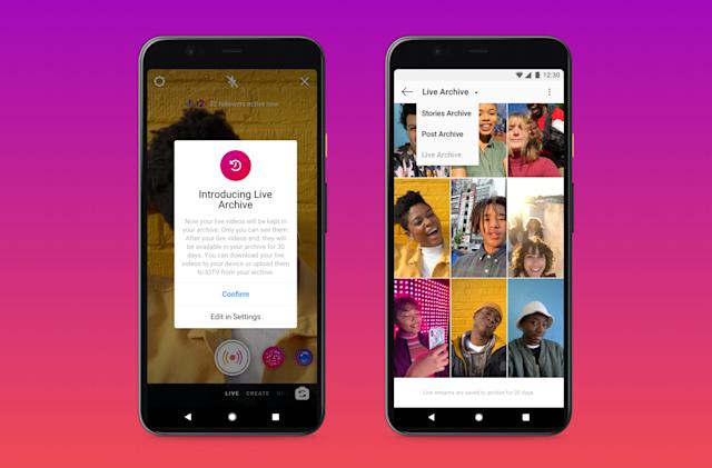 Instagram extends the maximum length of Live streams to four hours