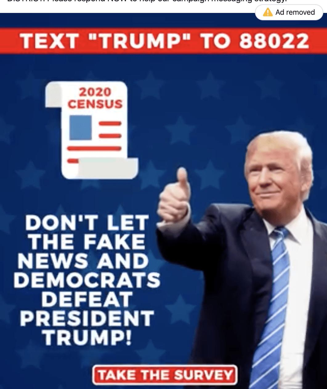 Trump campaign 'census' ad