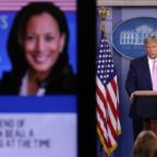 Donald Trump and his campaign launch scattergun attacks on Kamala Harris