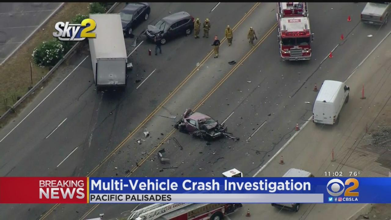 Several Hurt After Violent Wreck Shuts Down PCH In Pacific Palisades
