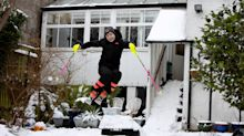 Schoolboy turns garden into ski jump in hope of making Winter Olympics