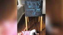Toddler throws tantrum in hilarious pregnancy announcement
