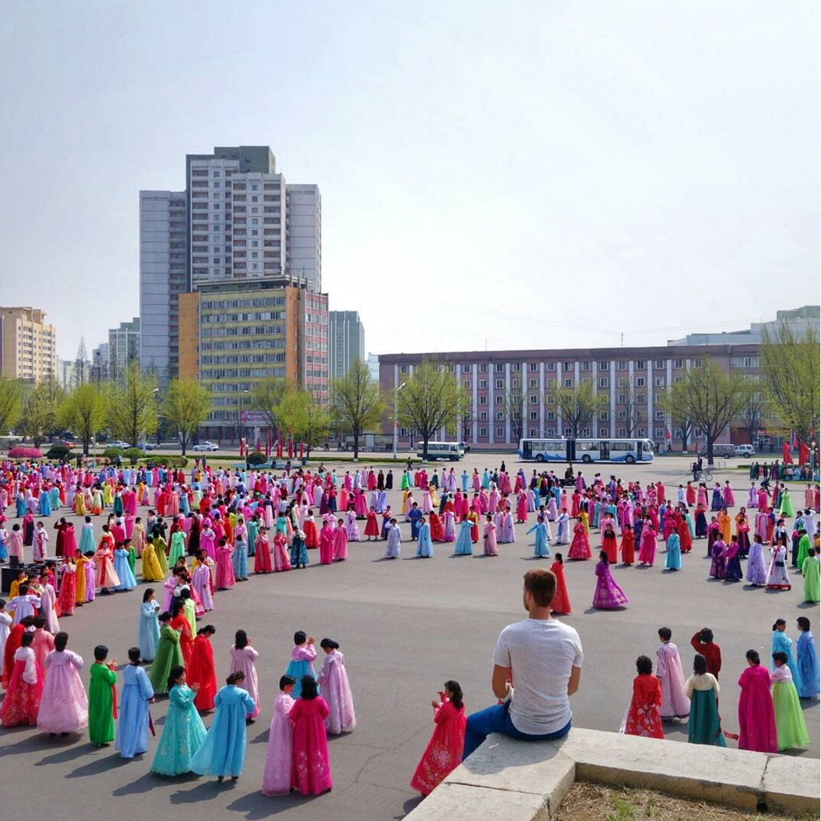 <p><i>Jacob sits watching hundreds of women practicing their dance routine for an upcoming national celebration.</i></p>