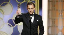 """Tom Hiddleston se disculpa por su discurso """"sin elegancia"""" en los Globos de Oro"""