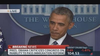 Pres. Obama on immigration: Congress can't pass the bill