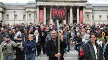 Hundreds gather in Trafalgar Square to promote coronavirus conspiracy theories at 'anti-lockdown' protest