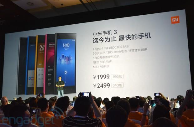 Xiaomi unveils new Android-powered 5-inch MI3, 47-inch smart TV in China