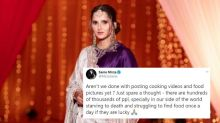 Sania Mirza Thinks It's Wrong to Post Food Photos During Pandemic, but Dia Mirza Disagrees