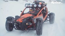 Driving Ariel Nomad up a snowy mountain looks like tons of fun