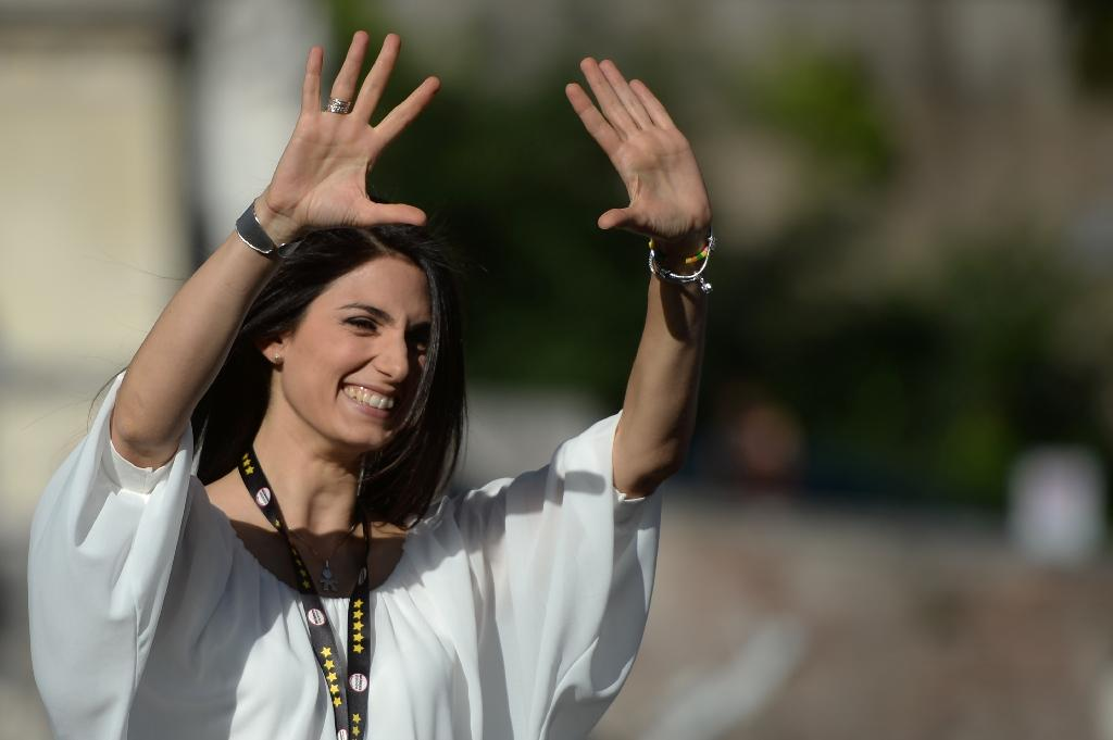 Virginia Raggi won the mayoral election in Rome in a landslide victory (AFP Photo/Filippo Monteforte)