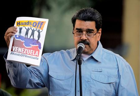 FILE PHOTO: Venezuela's President Nicolas Maduro attends a gathering in support of his government in Caracas, Venezuela February 7, 2019. REUTERS/Carlos Barria/File Photo/File Photo