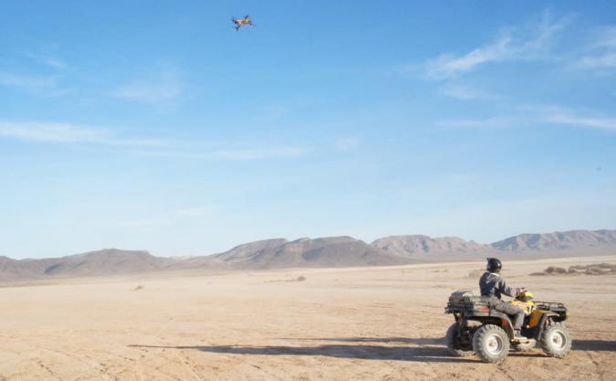 AirDog's action sports drone followed me through the desert