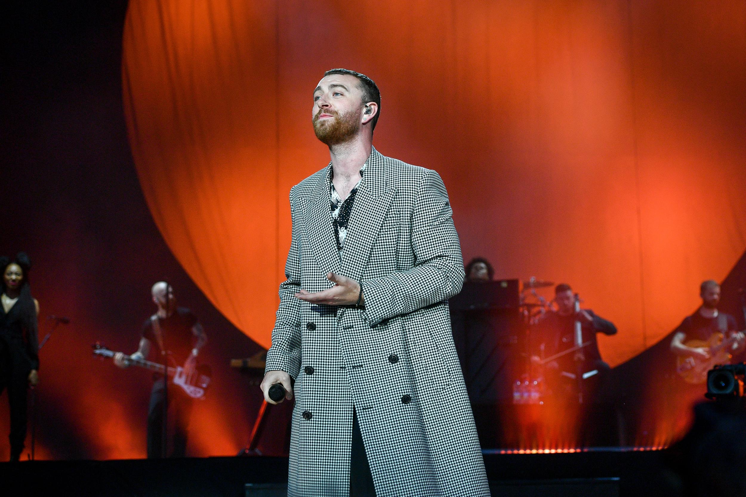 Sam Smith performs during the first day of BBC Radio 1's Biggest Weekend at Singleton Park, Swansea.