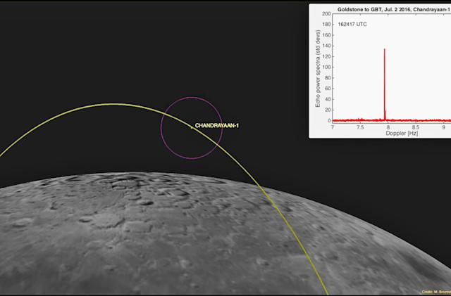 NASA finds long-lost Indian lunar orbiter