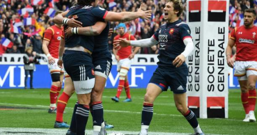 Rugby - Tournoi - Tournoi des 6 Nations : Le XV de France vainqueur du pays de Galles après une incroyable fin de match