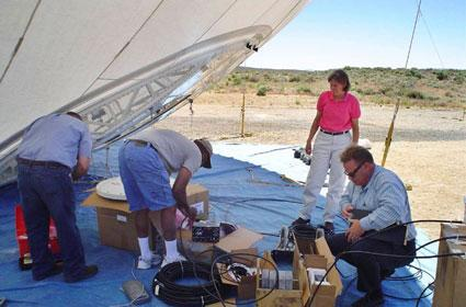 Researchers develop paint-on antenna for high-altitude airships
