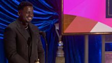 'I really shouldn't have said that!' Daniel Kaluuya laments Oscars speech crack about parents having sex.