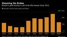 Russia's $40 Billion Gold Buying Binge Is Slowing Down