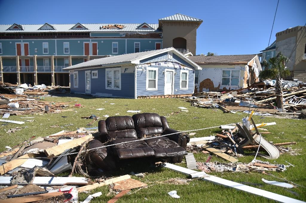 Houses were destroyed and some people in Mexico Beach returned to find they had nothing left (AFP Photo/HECTOR RETAMAL)