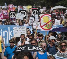 Protests in Helsinki ahead of Trump-Putin summit