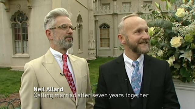 Couples prepare for first same-sex marriages