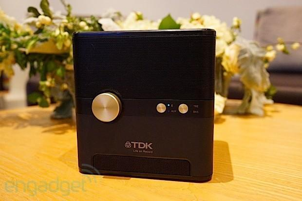 TDK's Wireless Charging Cube pumps out the jams, juices your Qi devices and resists water (video)