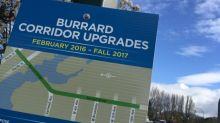 Burrard Bridge reconfiguration complete with heritage lighting and fewer vehicle lanes