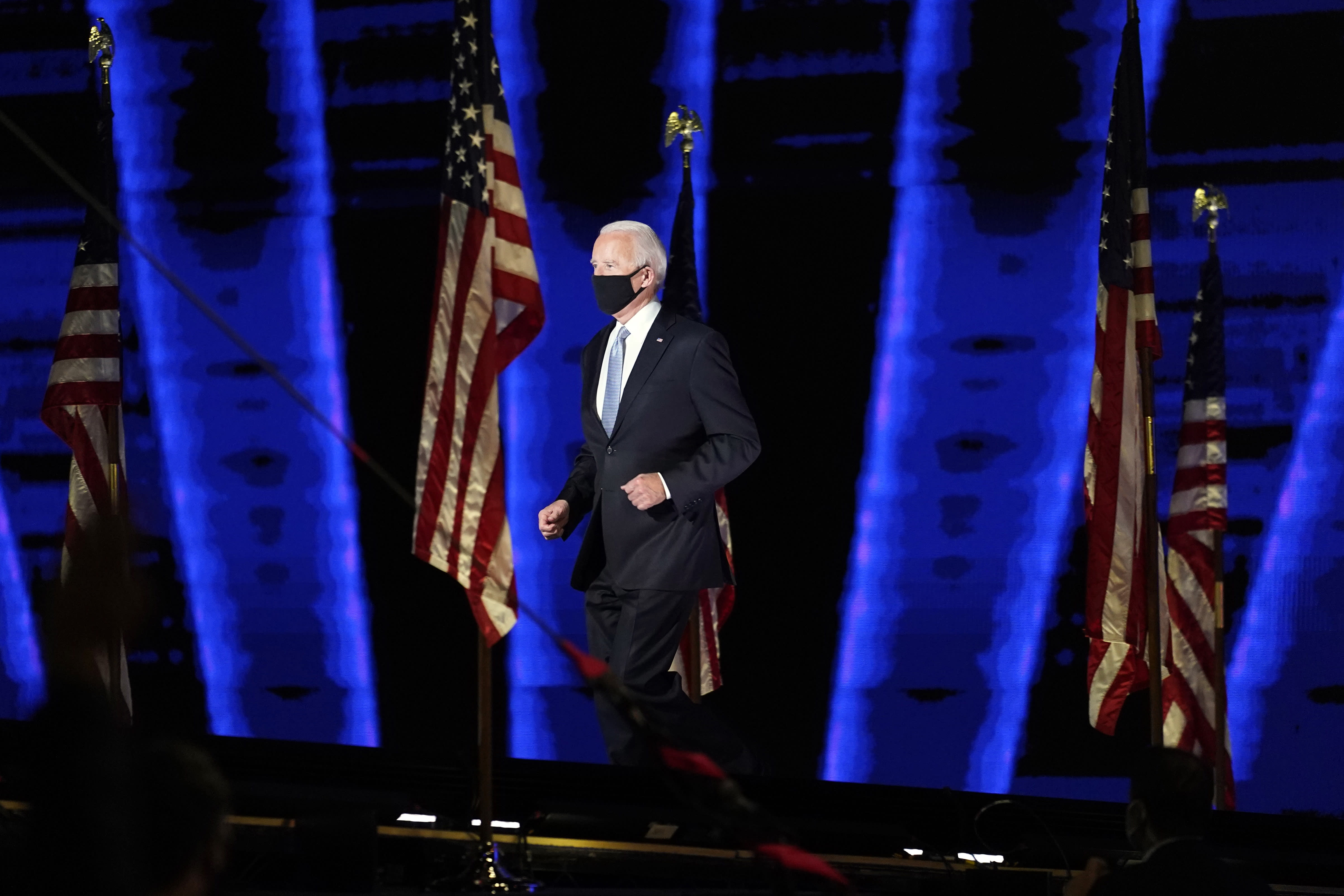 'Iconic': Joe Biden's 'victory jog' goes viral