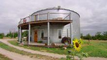 Family Converts Steel Grain Bin Into Home