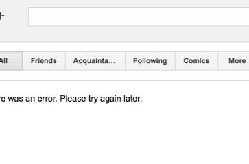 Google+ experiencing outage, temporarily the anti-social network